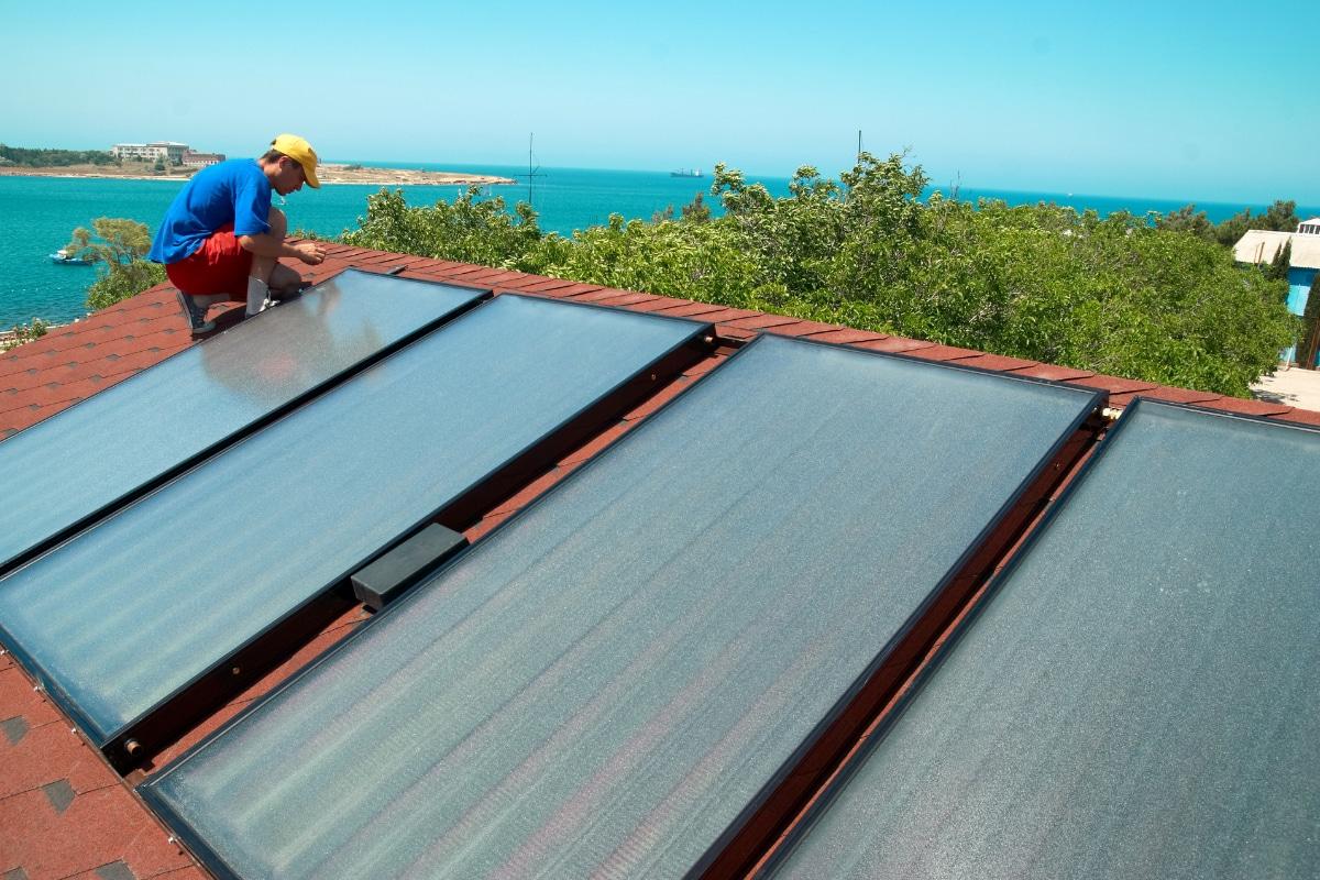 plaatsing zonnecollectoren